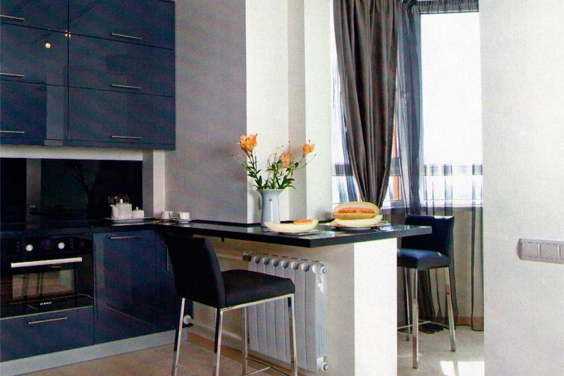 Идеи дизайна кухни с балконом